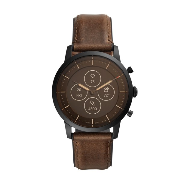Fossil Hybrid Smartwatch HR - Collider Dark Brown Leather