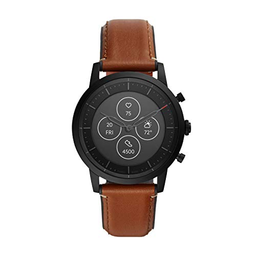Fossil Hybrid HR - Black/Brown - Leather (Model: FTW7007)