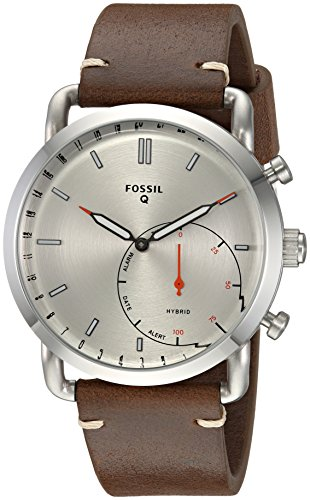 Fossil Q Commuter - Stainless Steel/Leather Hybrid Men's Smartwatch