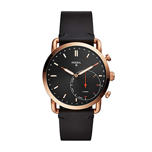 Fossil Men's Commuter - Rose Gold Black (Model: FTW1176)