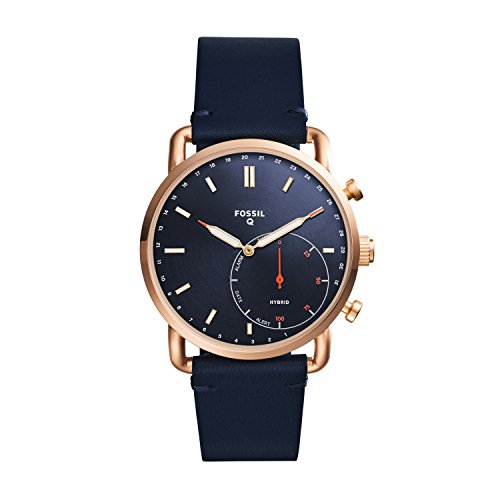 Fossil Q Men's Commuter - Rose Gold-Tone, Blue (Model: FTW1154)