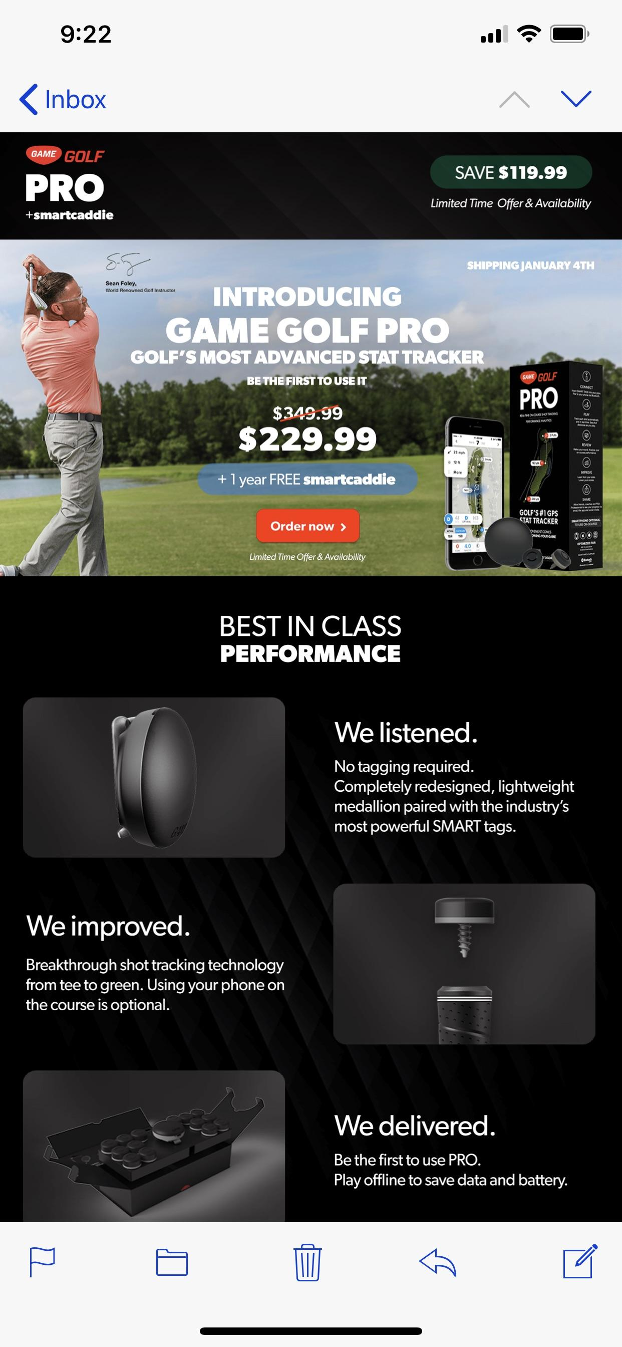 Game Golf Pro finally gives update. Available January 4th ...