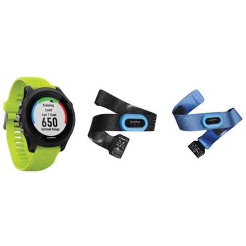 Garmin - Forerunner 935 GPS Heart Rate Monitor Watch Bundle - Green/black
