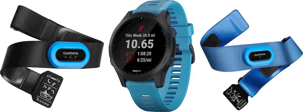 Garmin - Forerunner 945 GPS Heart Rate Monitor Running Smartwatch Bundle - Blue