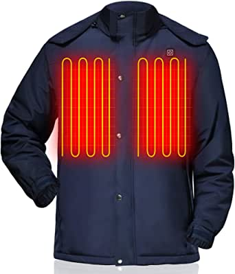 GLOBAL VASION Rechargeable Heated Vest Jacket Battery ...