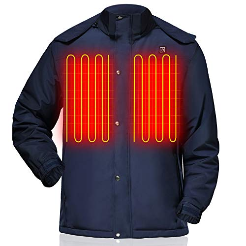 GLOBAL VASION Rechargeable Heated Vest Jacket Battery Powered for Men Women Cold Weather Vest Jacket for Hike Camp Ski