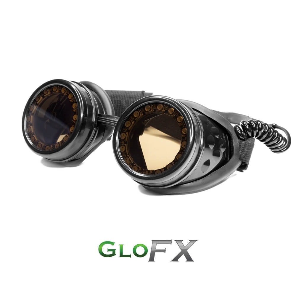 GloFX Heart Shaped Kaleidoscope Glasses with black frames ...