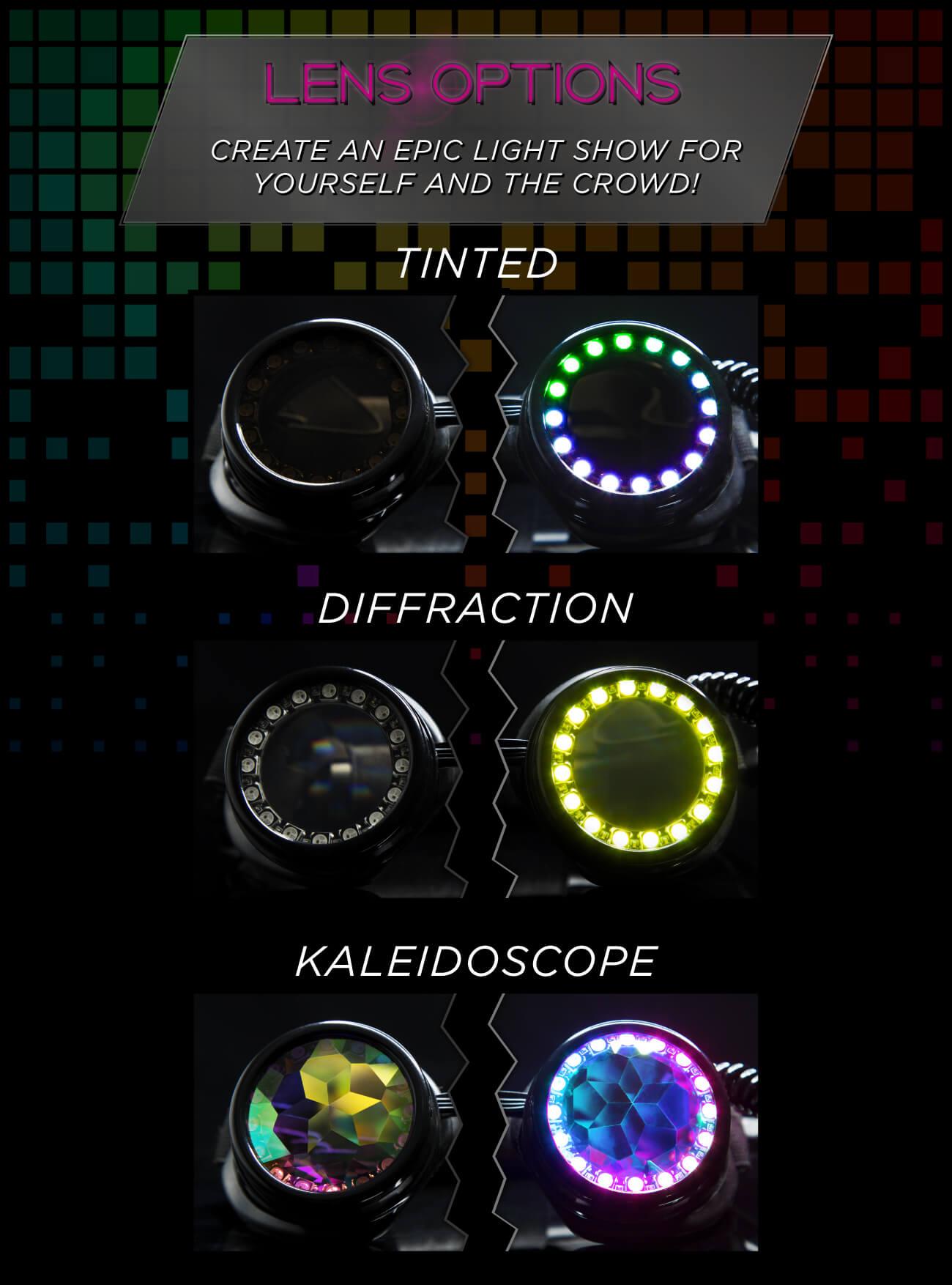 GloFX LED Pixel Pro Goggles
