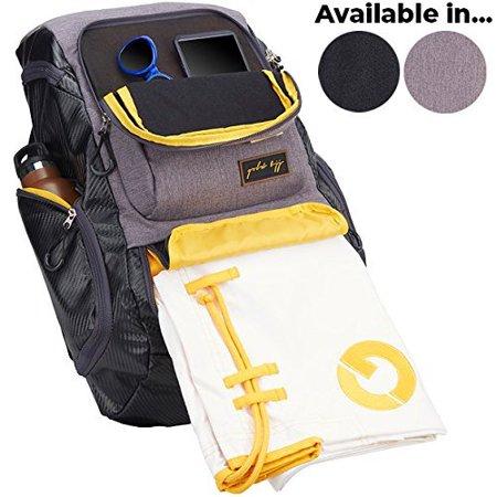 Gold BJJ Jiu Jitsu Backpack - Heavy Duty Gym Bag with ...