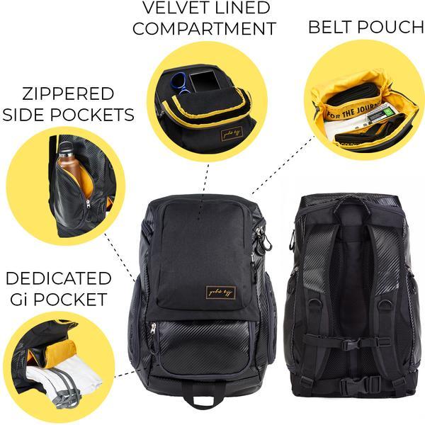 Gold BJJ Jiu Jitsu Backpack & Training Bag | Gold BJJ