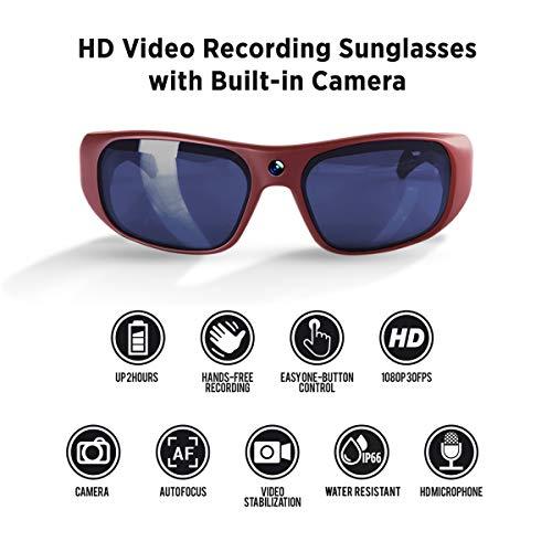GoVision Apollo 1080p HD Camera Glasses - Rose Gold