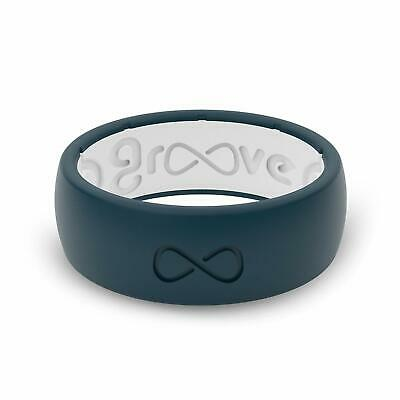 Groove Life - Groove Ring Silicone Wedding Band Blue/White ...