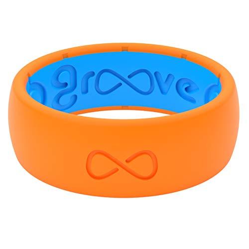 Silicone Wedding Ring for Men - Blaze Orange