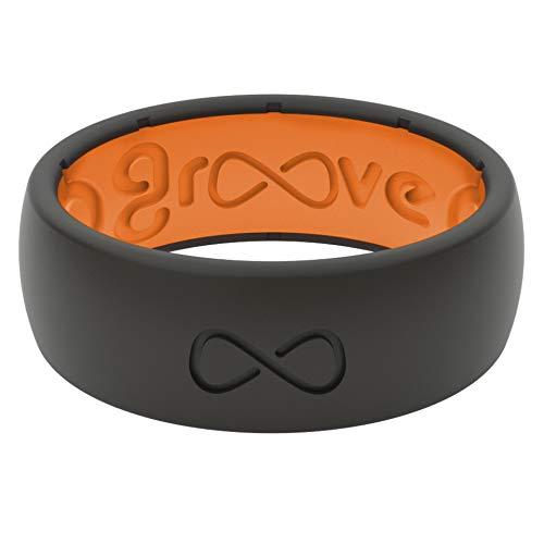 Comfort Ring for Men - Midnight Black/Orange