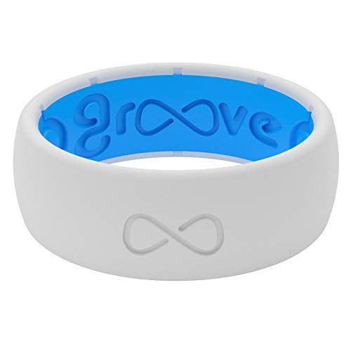 Groove Life Silicone Wedding Ring for Men - Snow