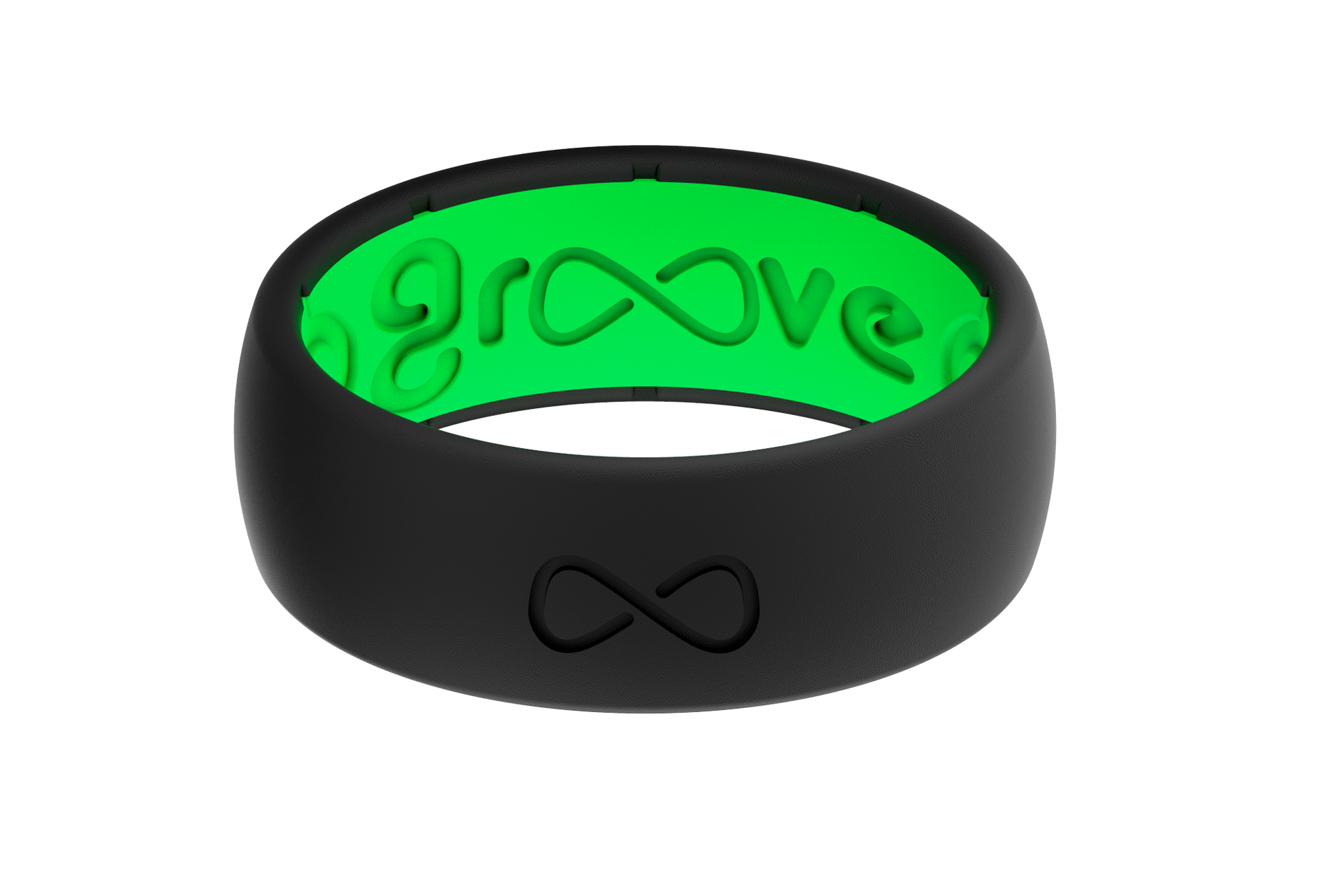 Groove Silicone Rings | Midnight Black/Green | Groove Life ...