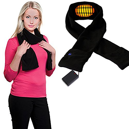 Heated Scarf with Neck Heating Pad - Black Electric ...