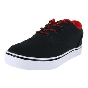 HEELYS MENS LAUNCH BLACK BLACK RED CANVAS 771016M BLKRED ...