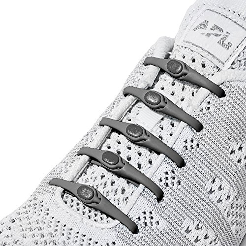 HICKIES Tie-Free Laces (2.0 New) - Charcoal