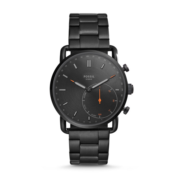 Hybrid Smartwatch - Q Commuter Black Stainless Steel - Fossil