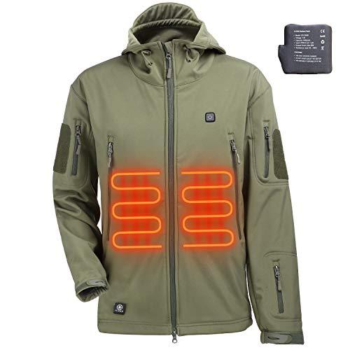 ITIEBO Men's Heated Jacket - ARMY GREEN