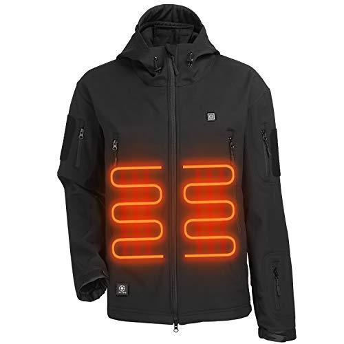 ITIEBO Men's Heated Jacket - BLACK