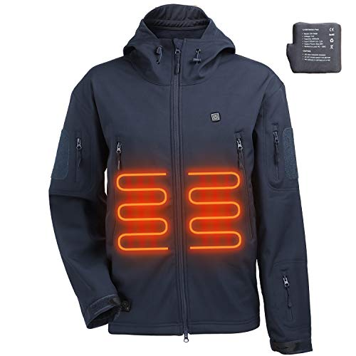 ITIEBO Men's Heated Jacket - BLUE