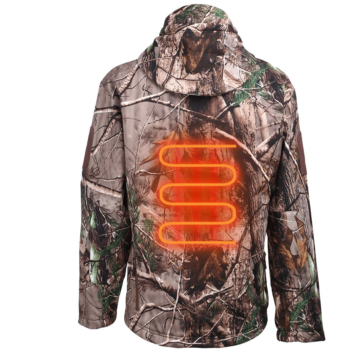 ITIEBO Men's Heated Jacket Electric Battery Pack ...