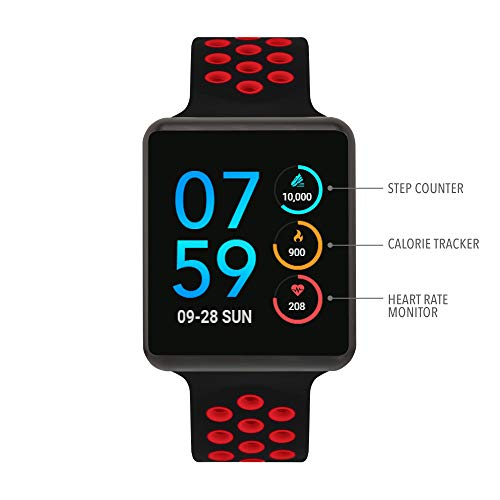 iTouch Air Special Edition - Black/Red, 45mm (Medium/Large)