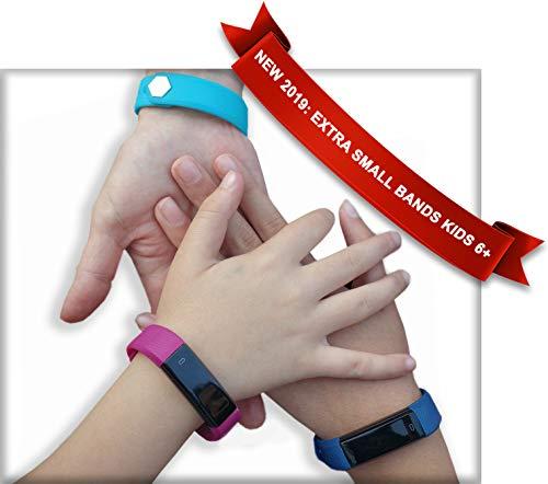 Kids Fitness Tracker Activity Tracker for Kids - 2 Bands Aqua Gift Set
