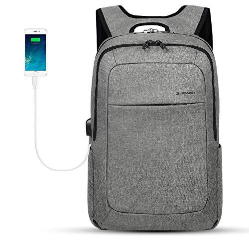 kopack Laptop Backpack Men Women USB Port - Gray