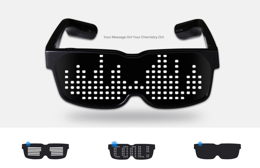LED glasses with scrooling display - Chemion | Led ...