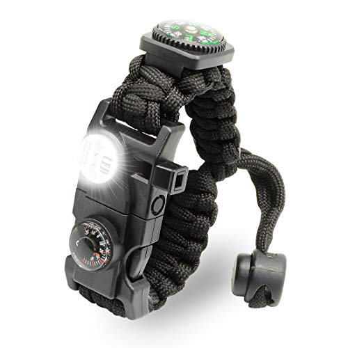 LeMotech 21 in 1 Adjustable Paracord Survival Bracelet ...