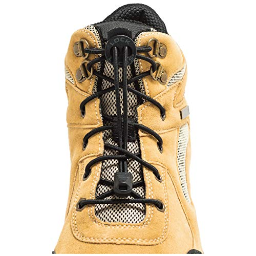 LOCK LACES for Boots (1 Pair) - BLACK