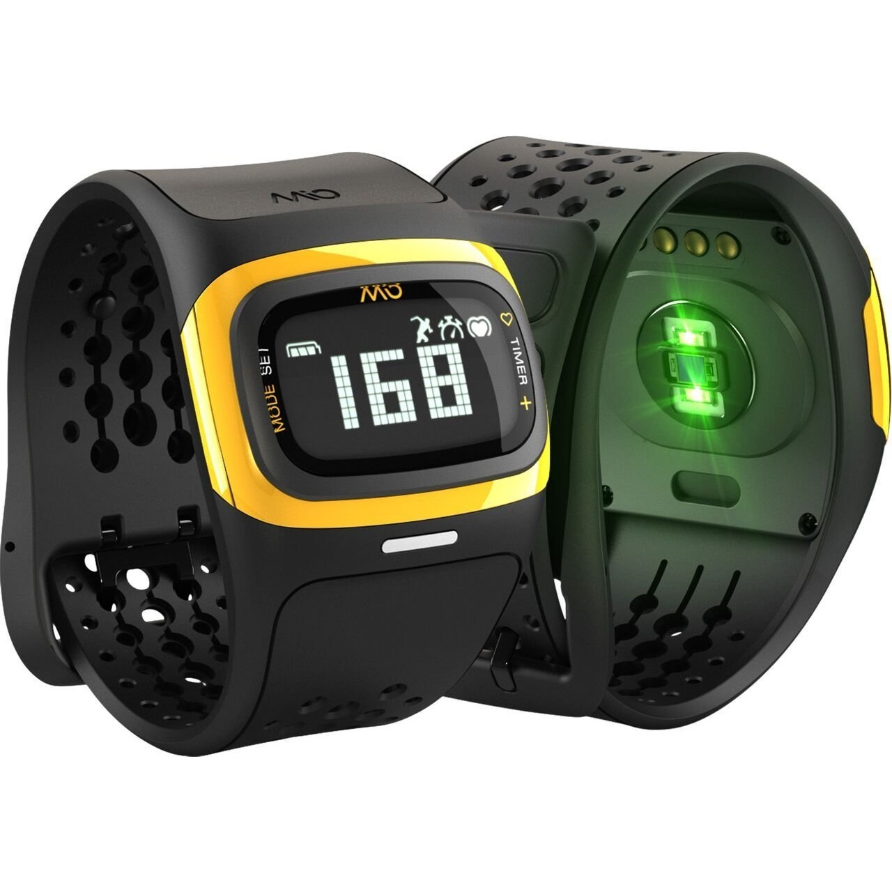 Mio Alpha 2 Strapless Heart Rate Monitor Watch - Yellow ...