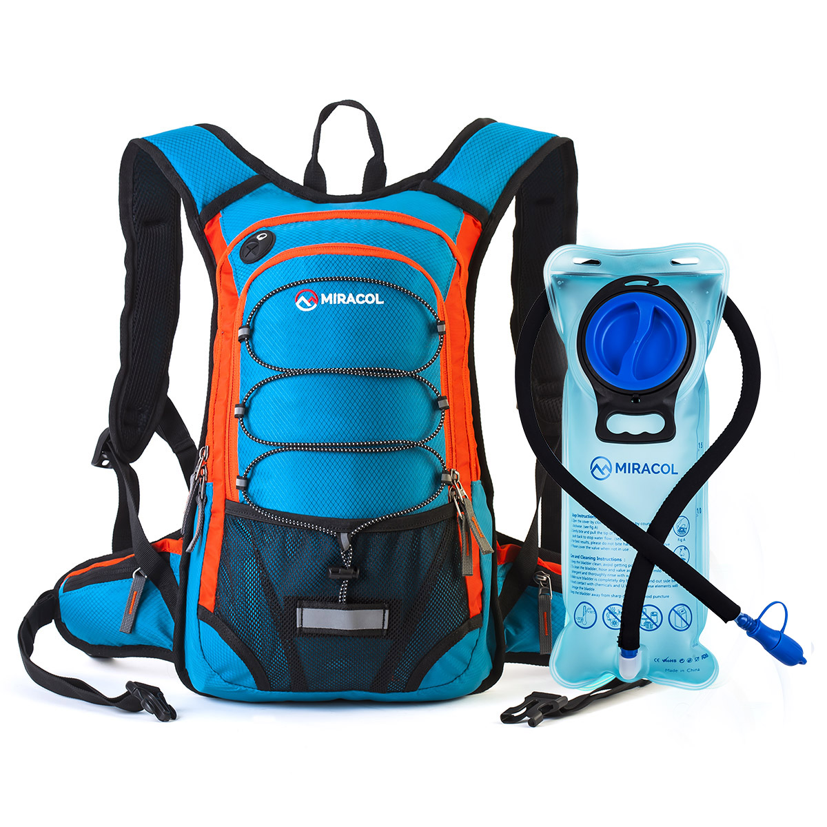 MIRACOL Hydration Backpack with 2L Water Bladder, Thermal ...