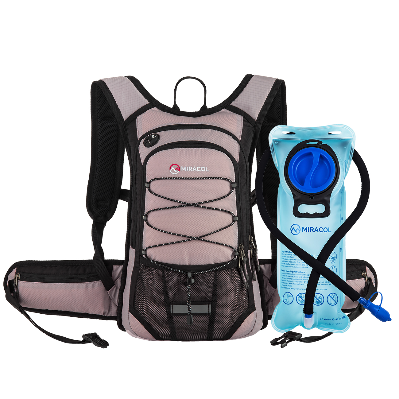 MIRACOL Hydration Backpack with Water Bladder for Hiking ...