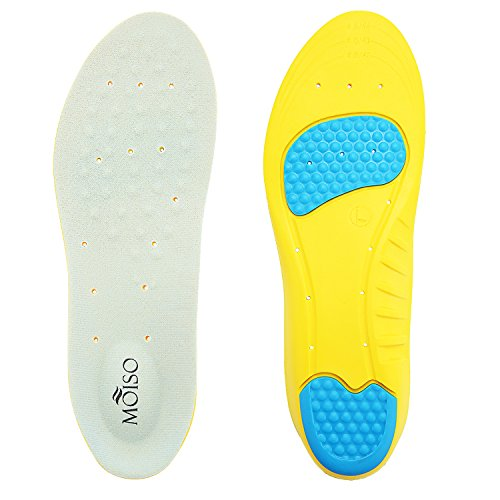 MOISO Memory Foam Orthotic Insoles - YELLOW