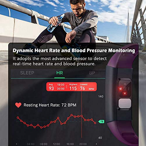 MorePro ECG Fitness Tracker HRV, HD Color Screen Activity ...