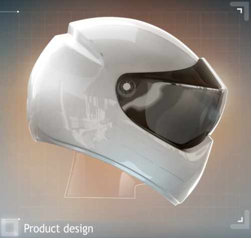 Motorcycle helmet projects GPS directions on to biker's ...
