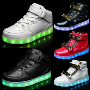 New Boys Girls Light Up Shoes Kids Children LED Luminous ...