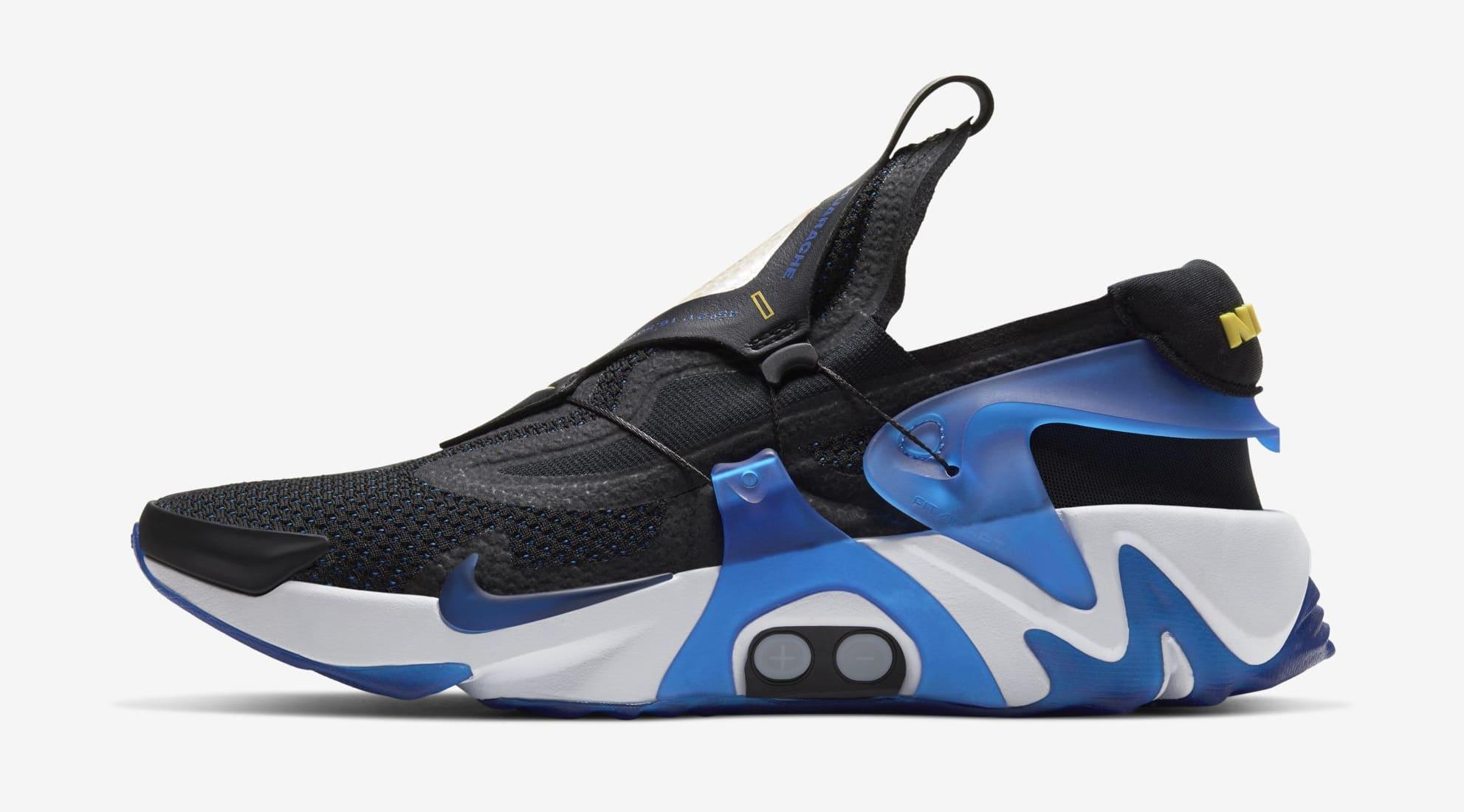 Nike Adapt Huarache 'Black/Racer Blue' Release Date | Sole ...