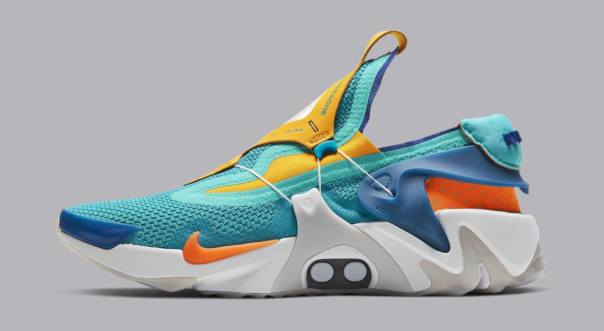 Nike Adapt Huarache 'Hyper Jade/Total Orange' BV6397-300 ...