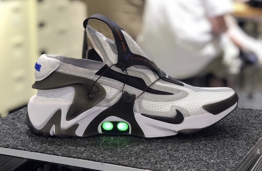 Nike Adapt Huarache White Black Grey Releasing In ...