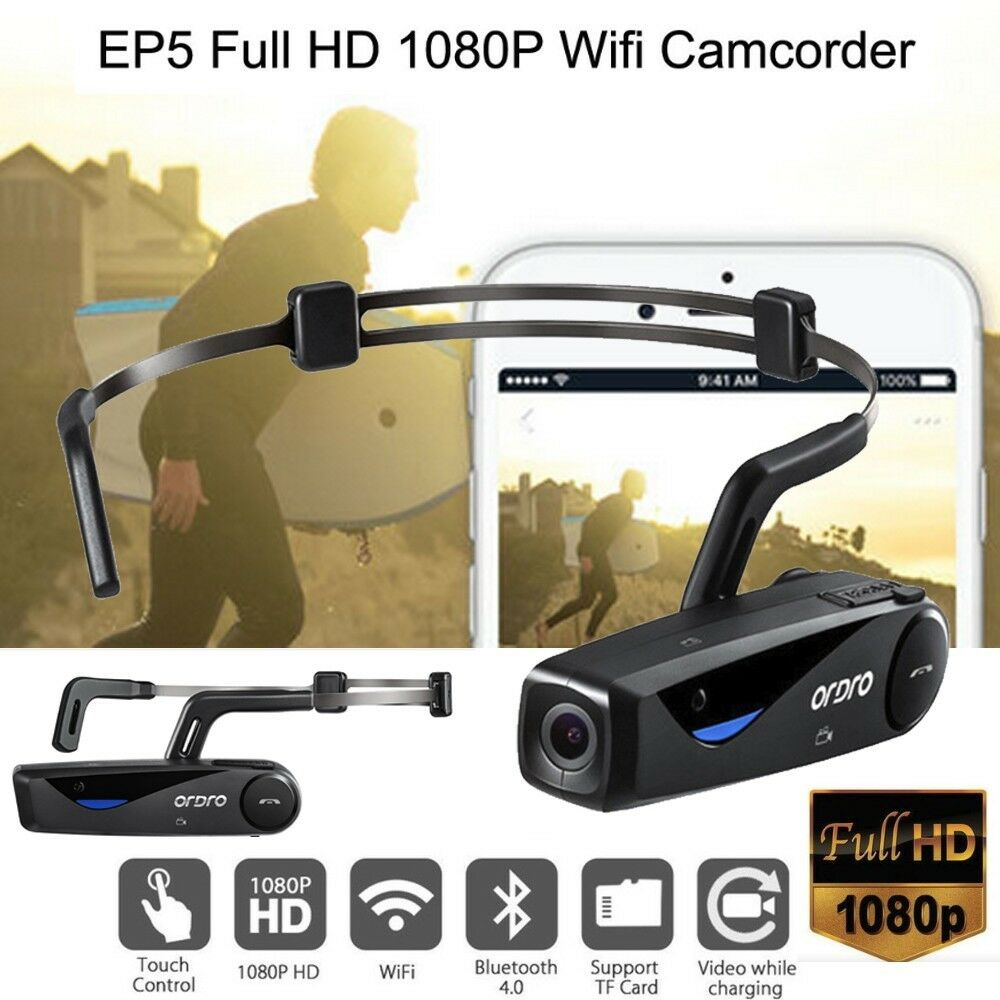 ORDRO EP5 Head Action Mini Portable Full HD 1080P Wifi ...