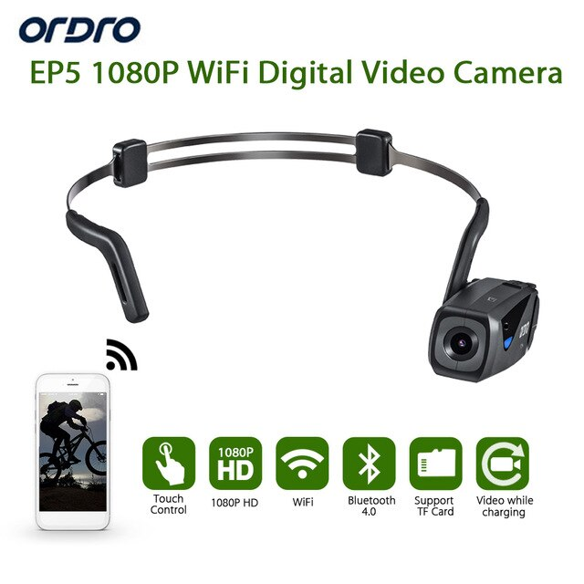ORDRO EP5 Wifi 8.0 MP H.264 Bluetooth Camera High ...