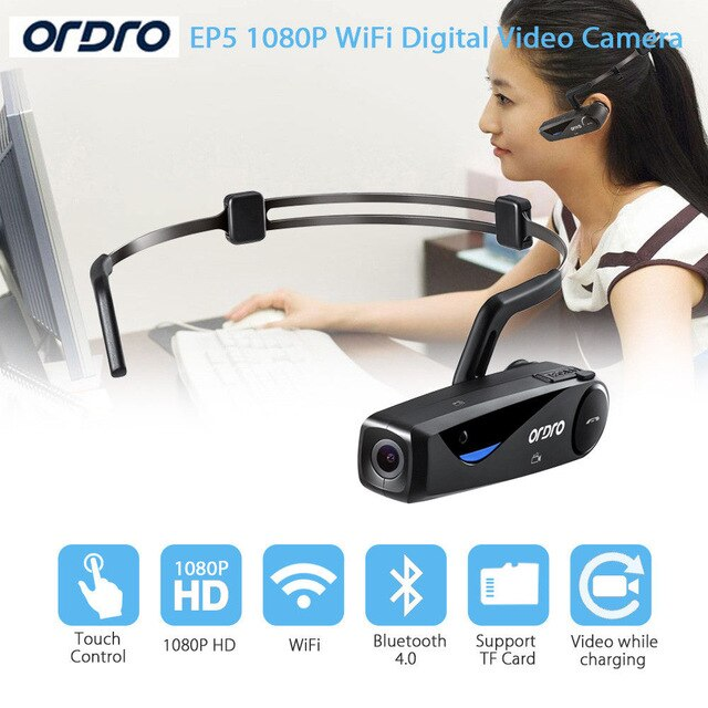 ORDRO EP5 Wifi 8.0 MP H.264 Bluetooth Sports Action ...