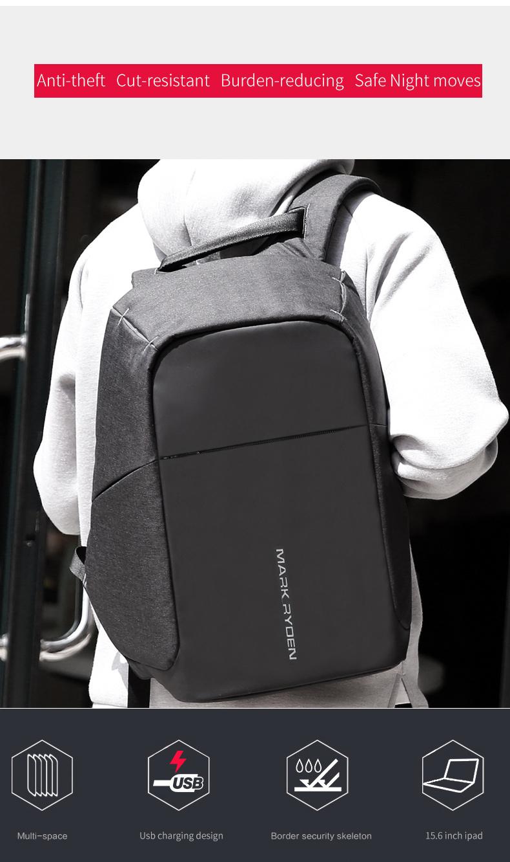 Markryden Anti-theft Laptop Backpack