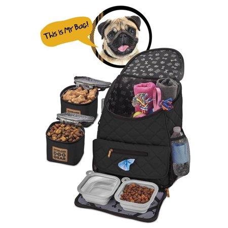 Overland Dog Gear Weekender Backpack (Black) - Walmart.com