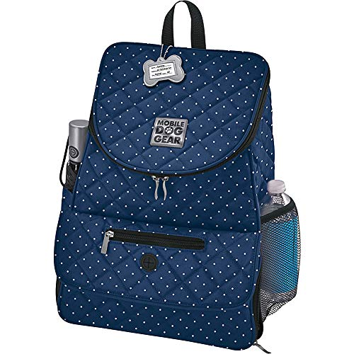 Overland Dog Gear Weekender Backpack (Navy w/White Dots)